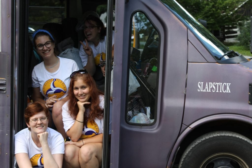 ride our purple buses to get to camp
