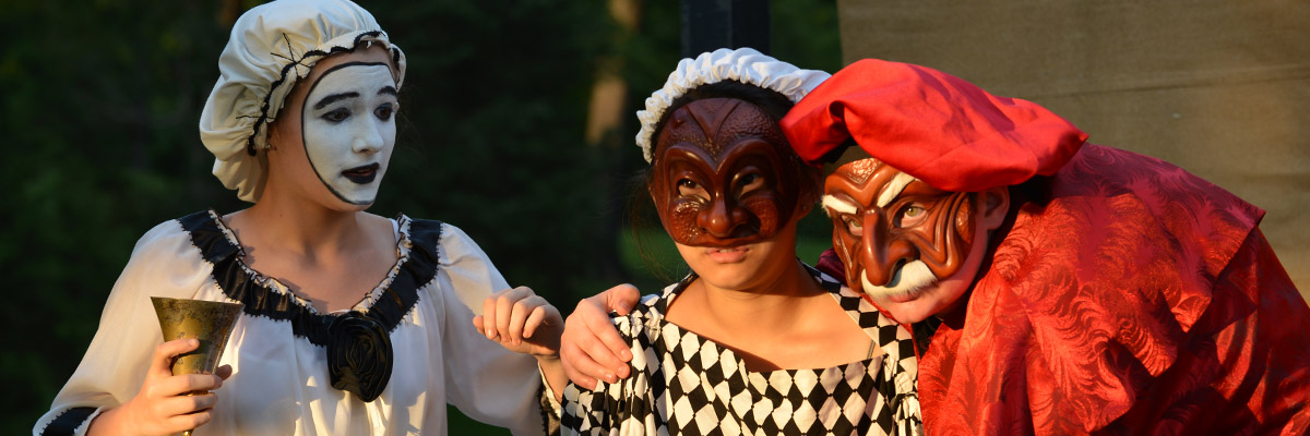 high school actors in mask