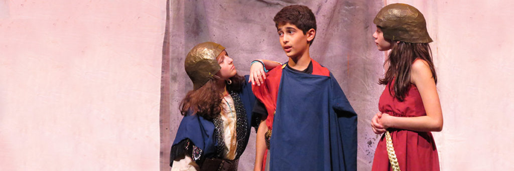 learn about mythology while performing in a show