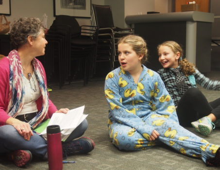 students getting feedback from artistic director Jeanne Harrison in our year round acting and improv classes